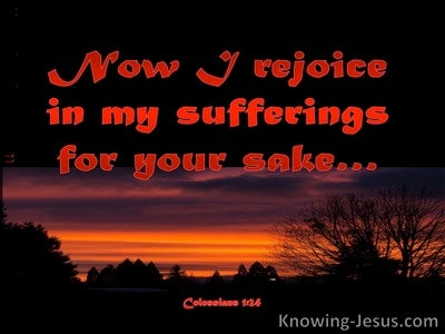 Colossians 1:24 Rejoice in Suffering (red)