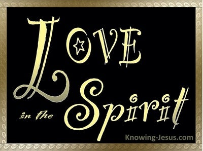 Colossians 1:8 Informed Of Your Love In The Spirit (gold)