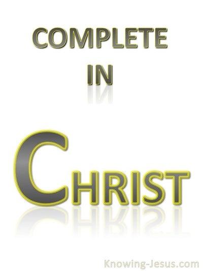 Colossians 2:10 Complete in Christ (white)