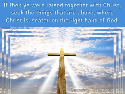 Colossians 3:1 Raise Up Together With Christ (blue)