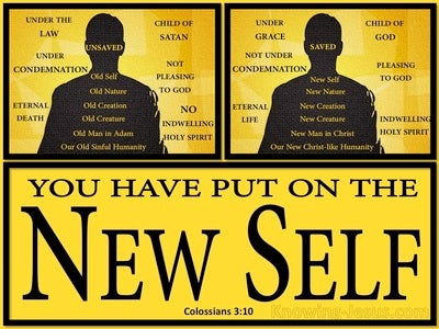 Colossians 3:10 Put On The New Self (black)