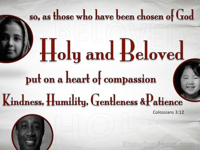 Colossians 3:12 Chosen Of God Holy And Beloved (white)