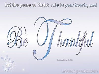 Colossians 3:15 The Peace Of Christ Rule Your Heart (blue)
