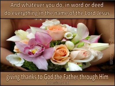 Colossians 3:17 Do All In The Name Of Jesus (brown)