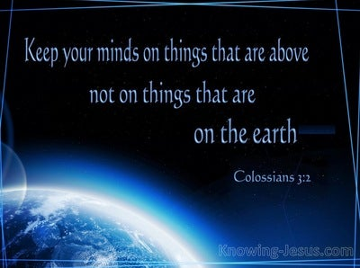 Colossians 3:2 Things Above (black)