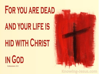 Colossians 3:3 Hid with Christ in God (yellow)