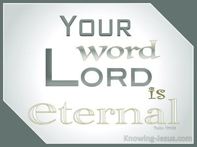 Psalm 119:89 Your Word Lord Is Forever (sage)