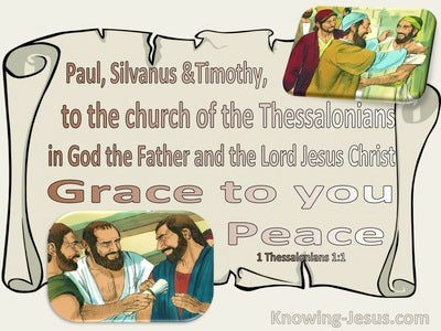 1 Thessalonians 1:1 To The Church In God The Father And The Lord Jesus Christ (beige)