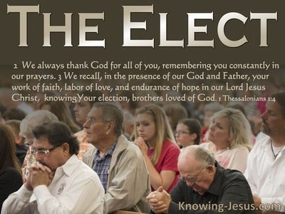 1 Thessalonians 1:4  Knowing Your Election Brothers Loved By God (beige)
