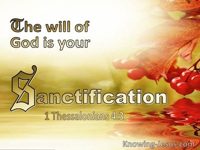 1 Thessalonians 4:3 The Will Of God Is Your Sanctification (beige)