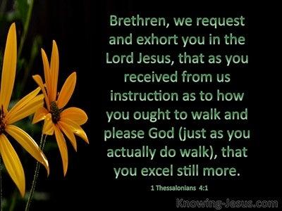 1 Thessalonians   4-1 Walk Worthy Of God (black)