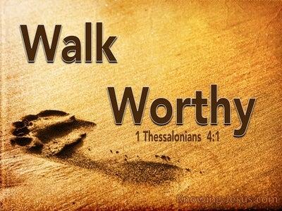1 Thessalonians   4-1 Walk Worthy Of God (brown)