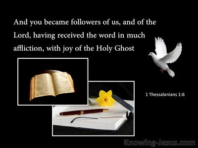 1 Thessalonians 1:6 Followers Of Paul And The Lord (black)
