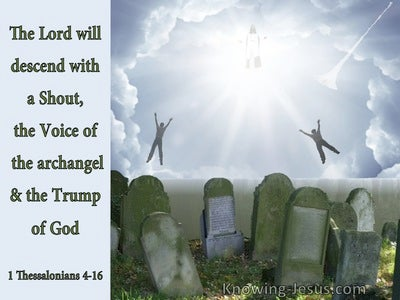 1 Thessalonians 4:16 The Lord Will Descend From Heaven (green)