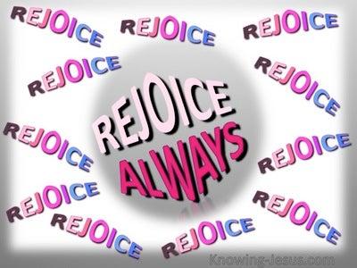 1 Thessalonians 5:16 Rejoice Always (pink)
