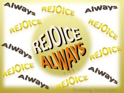 1 Thessalonians 5:16 Rejoice Always (yellow)