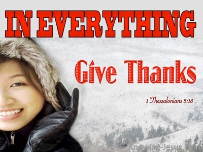 1 Thessalonians 5:18 In Everything Give Thanks (red)