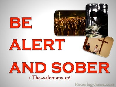 1 Thessalonians 5:6  Let Us Not Sleep As Others (red)