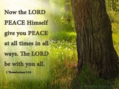 2 Thessalonians 3:16 God Of Peace (brown)