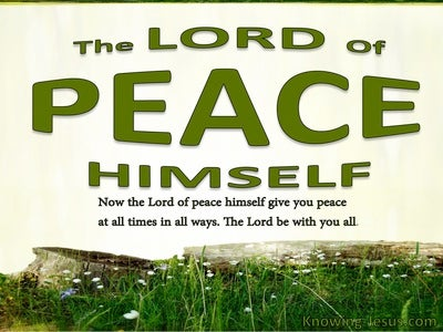 2 Thessalonians 3:16 God Of Peace (green)