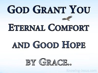 2 Thessalonians 2:16 Eternal Comfort and Good Grace (navy)