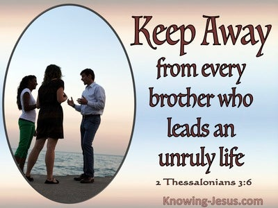 2 Thessalonians 3:6 Keep Away From Those Who Do Not Live Godly Lives (pink)