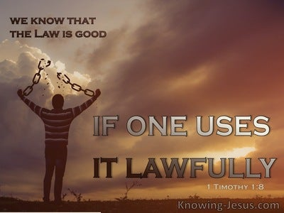 1 Timothy 1:8  We Know That The Law Is Good (beige)
