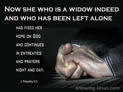 1 Timothy 5:5 She Who Is A Widow Indeed (black)