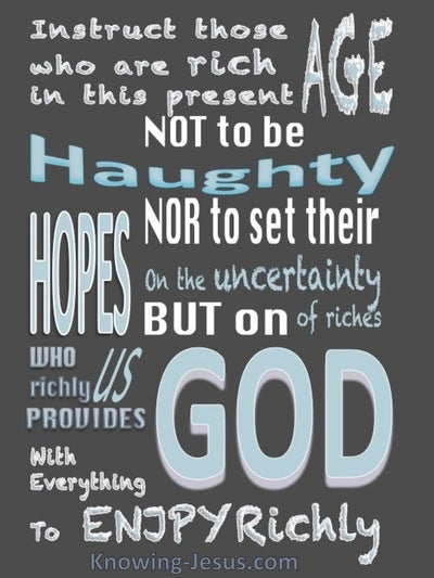 1 Timothy 6:17 Set Your Hope On God (blue)