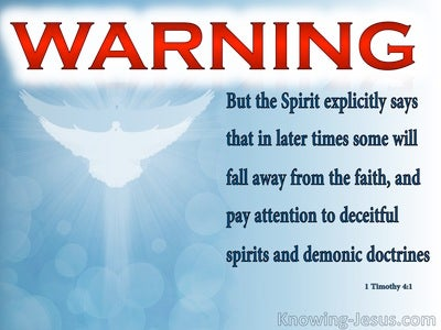1 Timothy 4:1 Some Will Depart From The Faith (red)