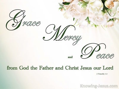 2 Timothy 1:2 To Timpthy Grace, Mercy And Peace (beige)
