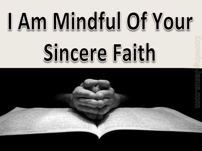 2 Timothy 1:5 The Sincere Faith In You (black)