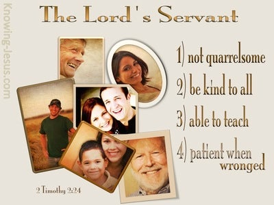2 Timothy 2:24 The Lord's Servant (beige)