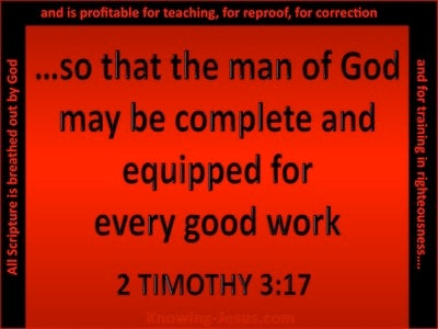 2 Timothy 3:17 That The Man Of God May Be Fully Equipped (red)