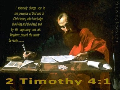 2 Timothy 4:1 Preach the Word (brown)