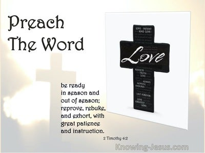 2 Timothy 4:2 Preach The Word (white)