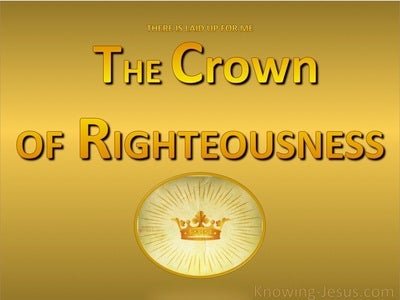 2 Timothy 4:8 The Crown Of Righteousness (gold)