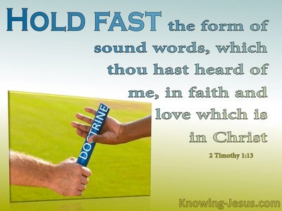 2 Timothy 1:13 Hold Fast (green)