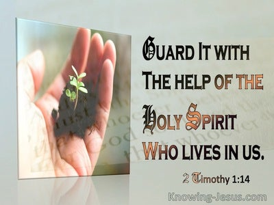 2 Timothy 1:14 Guard The Treasure Entrusted To You (brown)