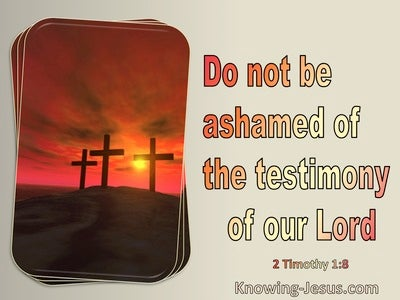2 Timothy 1:8 Do Not Be Ashamed Of Your Testimony (red)
