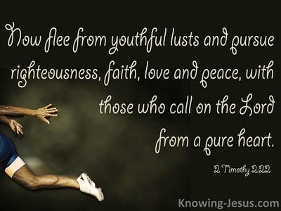 2 Timothy 2:22 Pursue Righteousness Faith And Love (black)