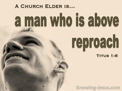 Titus 1:6 A Man Who Is Above Reproach (beige)