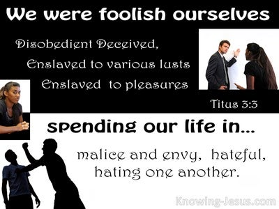 Titus 3:5 We Also Were Foolish Ourselves (black)