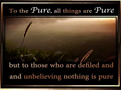 Titus 1:15 To Pure All Things Are Pure (brown)
