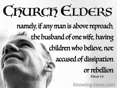 Titus 1:6 A Man Who Is Above Reproach (white)