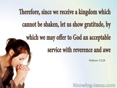 Hebrews 12:28  Offer God An Acceptable Service (aqua)