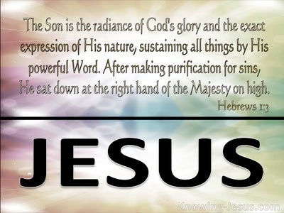 Hebrews 1:3 The Son Is The Radiance Of God (silver)