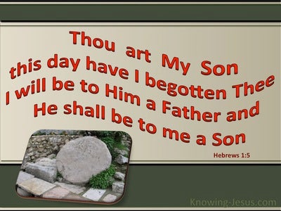 Hebrews 1:5 This Day Have I Begotten Thee (sage)