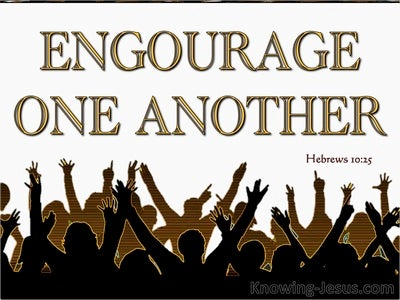Hebrews 10:25 Not Forsaking The Assembling Together (gold)
