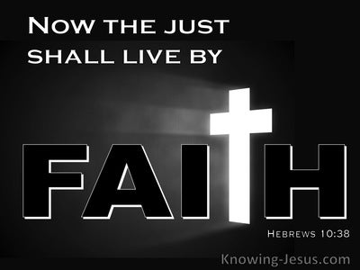 Hebrews 10:38 The Just Shall Live By Faith (white)